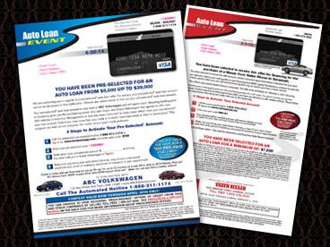 Beacon Score Mailer with Acceptance 1 Auto Black Visa Pre-Paid Card