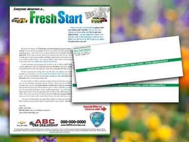 Fresh Start Bankruptcy Mailer