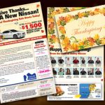Independence day, Labor day mailers, Memorial Day, Black friday, Thanksgiving, Christmas, Year end clearance, model year end,
